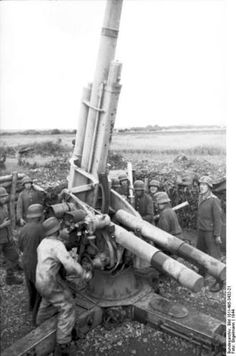 German 8.8 cm FlaK gun crew in France, 1944.
