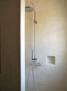 resin bathroom shower - Salento; shower fixture & inset for soap