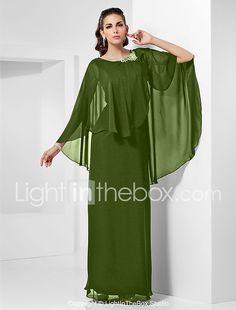 ef94a7a6f Tubinho Decorado com Bijuteria Longo Chiffon Evento Formal Vestido com  Detalhes em Cristal de TS Couture®