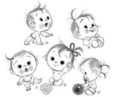 Anette marnat for storks movie storks movie, kid character, character sketches, character drawing Illustration Inspiration, Baby Illustration, Kid Character, Character Drawing, Character Sketches, Cartoon Sketches, Drawing Sketches, Baby Cartoon Drawing, Drawing Tips