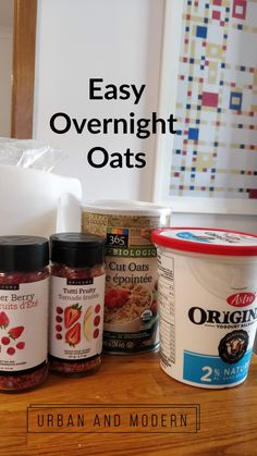 Easy overnight oats recipe, epicure overnight oats, easy meals for familes Epicure Recipes, Oats Recipes, Whole Food Recipes, Recipies, Breakfast Sandwiches, Breakfast Pizza, Breakfast Cookies, Breakfast Bowls, Breakfast Ideas