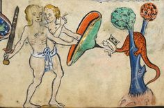 """Detail from """"The Rutland Psalter"""", medieval (c1260), British Library Add MS 62925. f 72r"""