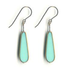 Long Tear Drop Earrings Aqua now featured on Fab. Loving the aqua.