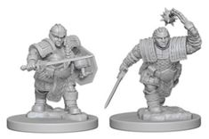 Includes 2 ready to paint figures pre-primed with Acrylicos Vallejo primer. Figures shown on a base. Material: PlasticMiniatures are supplied unpainted. Preparation and assembly may be required. Mini Paintings, Easy Paintings, Dungeons And Dragons, Vallejo Paint, Paint Charts, Mighty Ape, Female Fighter, Dwarf, Miniatures