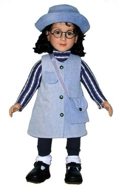 Debs 4pc Train SWEATER Denim JEANS SHOES SOCKS Doll Clothes For Bitty Baby Boy