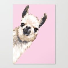 Buy Sneaky Llama Canvas Print by bignosework. Worldwide shipping available at . Just one of millions of high quality products available. Alpacas, Canvas Art, Canvas Prints, Art Prints, Lama Animal, Llama Face, Llama Llama, Llama Arts, Llama Print