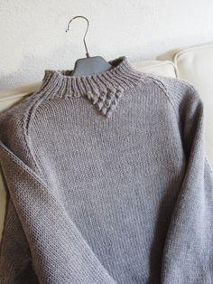 Just finished this merino wool sweater with  Aran stitch detail - a present for my daughter. From Lene Holme Samsøe Suveræn strik på den feminine måde