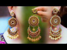 Make beautiful Paper Earrings Silk Thread Earrings, Thread Bangles, Paper Earrings, Thread Jewellery, Cute Earrings, Beaded Bracelet, Beaded Earrings, Earrings Handmade, Handmade Jewelry
