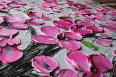 Original Primavera rosa ciruela Blossom flores por AngelaCoxArt
