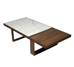 Palm Springs coffee table   organic modernism marble walnut and lacquer top 595.