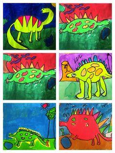 Exploring Art: Elementary Art 1st Grade Rockin' Dinosaurs