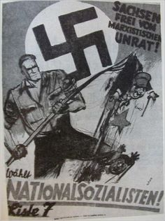 NSDAP poster - Free Saxony from Marxist trash