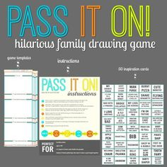 PASS IT ON – A Hilarious Family Drawing Game