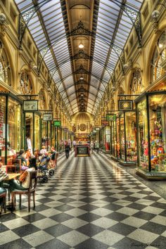 Taken in Melbourne city malls Vic Australia. Processed in HDR Final adjustments in PS