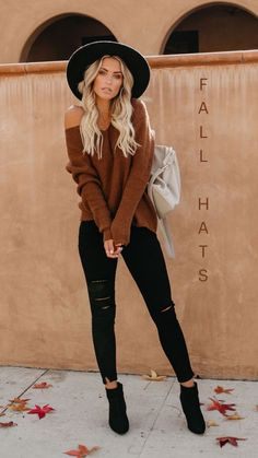 Trendy Fall Outfits, Outfits With Hats, Winter Fashion Outfits, Mode Outfits, Fall Winter Outfits, Cute Casual Outfits, Look Fashion, Stylish Outfits, Autumn Fashion