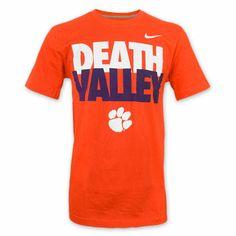 852ddcbd738  Clemson Tigers Nike Team Sideline Death Valley T-Shirt - Orange Baseball  Bats