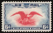Stamp: Bald Eagle (Haliaeetus leucocephalus) with Coat of Arms (United States of America) (Airmail Mi:US Small Picture Frames, Coin Dealers, Rare Stamps, Stamp Collecting, Coat Of Arms, Postage Stamps, Bald Eagle, United States, Airmail