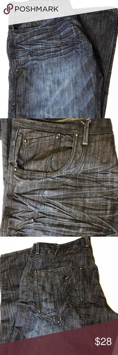 3377cc02d34c50 Jordan Craig Straight Fit Distressed Dark Wash 42 Pre-owned and in great  condition.