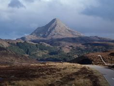 Ben Stack is a mountain located in northern Scotland, in the county of Sutherland. It is 721 metres (2365 feet) high. It is located southeast of Laxford Bridge and northwest of Loch More and the town of Lairg, along the A838 road, and just west of Loch Stack across the A838.