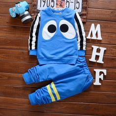 Newborn Baby Boy Clothes 2017 Eye Pattern Clothing Set Spring Cotton Toddler Girl Clothing 2PC Baby Set Baby Girl Clothes