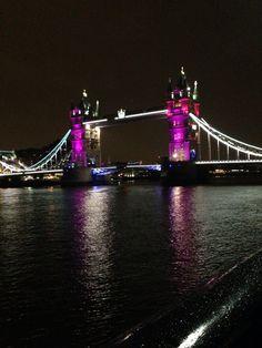 Tower Bridge by night when princess Charlotte was born!