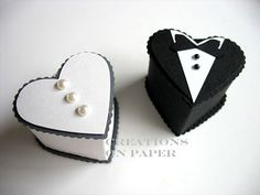 Creations on Paper: 10 More Ways with the Mini Heart Box - Wedding Favors