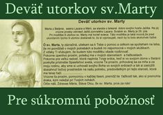 Mocná modlitba deviatich utorkov sv.Marty – gloria.tv Mother Teresa, Long Distance, Relationship Advice, Gods Love, Prayers, Marvel, Pictures, Bible, Projects