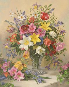 Albert Williams:Mid Spring Glory. Painting