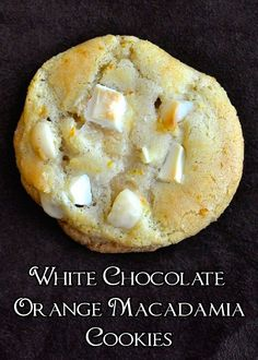 White Chocolate Orange Macadamia Cookies - a fantastic flavor combination in a crispy-chewy cookie.