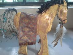 "TammyVitale.com, pony, 12"" h x 14"" long (with tail), ooak ceramic"