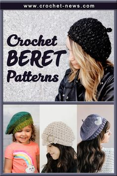 There's one staple of Parisienne style that you may have avoided for fear of not being able to pull it off: The beret. This iconic chapeau has been a runway staple for fashion houses for years, and some style icons have worn this headpiece with ease. And now, so can you! By choosing a crochet beret pattern to make.#crochetnews #crochetideas #crochetpattern Crochet Beret Pattern, Knit Or Crochet, Free Crochet, Crochet Hats, Knitting Patterns Free, Knit Patterns, Hand Knitting, Parisienne Style, Crocodile Stitch