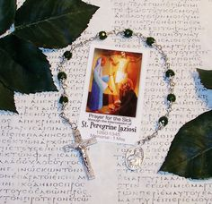 Unbreakable Novena Relic Chaplet of St. by foodforthesoul on Etsy, $24.45