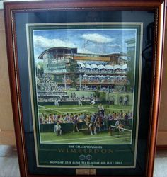Rare Wimbledon 2001 limited edition  print autograph by the following