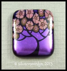 hand engraved flower / tree cabochon