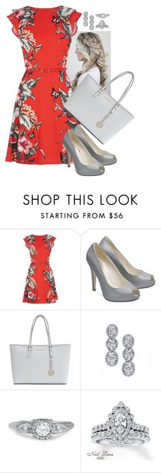 """""""Red Hot"""" by paperdollsq ❤ liked on Polyvore featuring Oasis, House of Fraser, MICHAEL Michael Kors, Harry Kotlar and Neil Lane"""