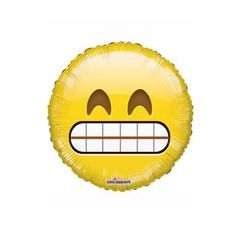 "Big Teeth Smile Emoji 18"" Foil Balloon - Hello Party - All you need to make your party perfect!"