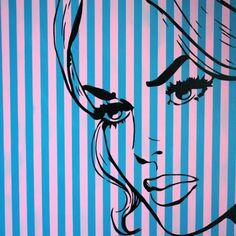 TAKE ME BACK BY: SCOTT HYND 76CM X 76CM X 4CM $664 Original pop art/graffiti style painting on canvas. Mixed media using spray paint, enamel paint, hand cut stencils and vintage comics.