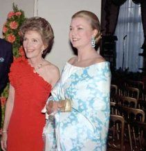 """Carl Anthony Online:  """"Mrs. Reagan hosts her old friend Grace Kelly (Princess Grace of Monaco) at an American Embassy party during the 1981 royal wedding festivities"""""""