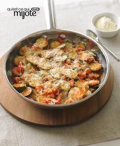 Poêlée de courgettes au parmesan