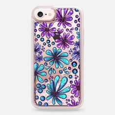 Casetify iPhone 7 Liquid Glitter Case - Blooming Coral by ChristineMay