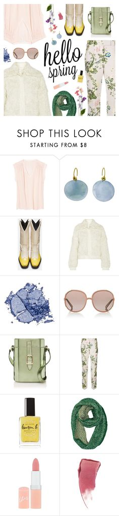 """Waiting for Spring"" by sproetje ❤ liked on Polyvore featuring Rebecca Taylor, Ten Thousand Things, Calvin Klein, Tory Burch, Stila, Chloé, Officina del Poggio, Calvin Klein 205W39NYC, Lauren B. Beauty and Rimmel"