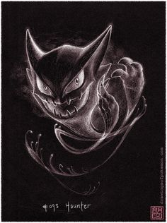 [Day 22] Favourite ghost type - Haunter Haunter's my favourite Pokémon for so many different reasons, but the ghost type is my favourite type too