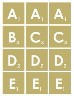 Free printable scrabble letters templates and printables for Scrabble template printable