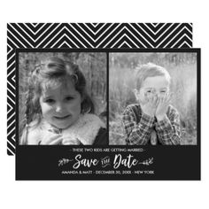Save the Date Kids Getting Married Photo Card - married gifts wedding anniversary marriage party diy cyo