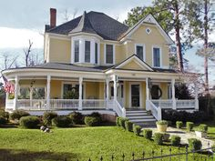 This 1908 four-bedroom Queen Anne in Mount Vernon, Georgia, has original pine floors, sits on two acres dotted with azaleas, dogwoods, and camellias—plus mature pecan trees, roses, and a proud vegetable plot.
