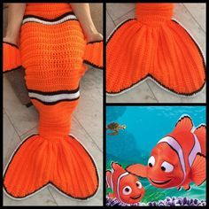 SIMILAR: http://www.ravelry.com/patterns/library/clownfish-nemo-cocoon-style-blanket