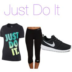 I work out by sraley on Polyvore featuring polyvore fashion style NIKE