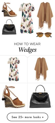 """""""Sin título #5590"""" by ceciliaamuedo on Polyvore featuring Acne Studios, Tory Burch, Aquazzura, Fendi and Ray-Ban"""