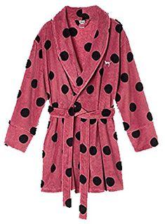 d8743ed6bc Victoria Secret PINK Womens Polka Dot Bathrobe Medium Large -- Click for  more Special Deals