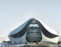 Futuristic Building Plans: Modern Art Museum in Dubai UAE